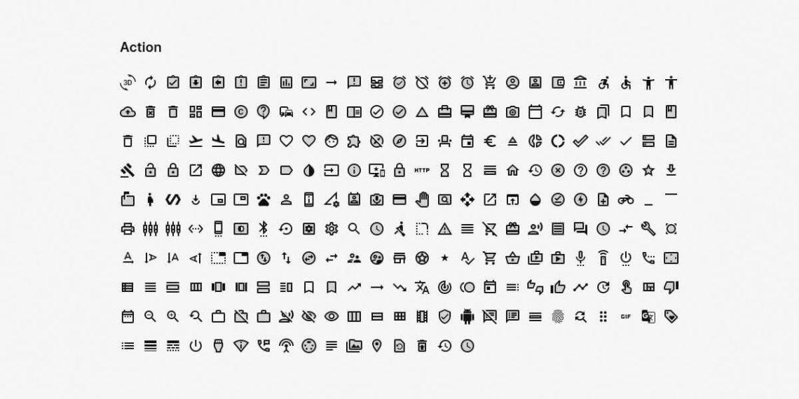 Бесплатная библиотека Material Icons (коллекция из 1000 векторных иконок)